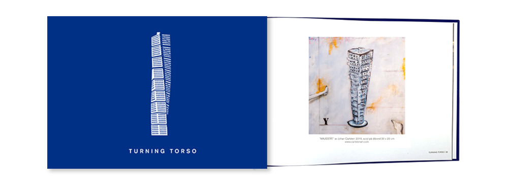 Johan Carlstes målning i Turning Torso-boken